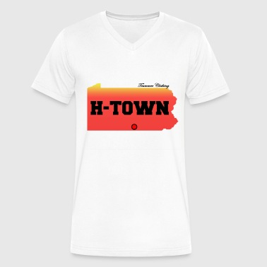 H-Town - Men's V-Neck T-Shirt by Canvas