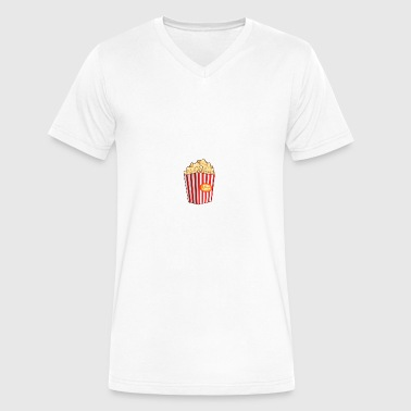 Popcorn - Men's V-Neck T-Shirt by Canvas