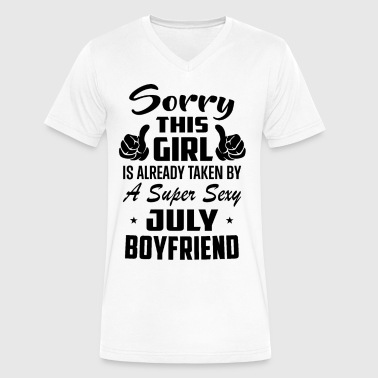 Sorry This Girl Is Already Taken By A Super Sexy J - Men's V-Neck T-Shirt by Canvas