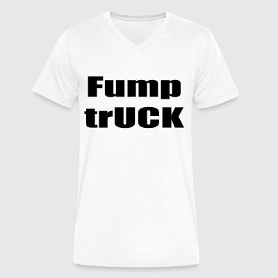 Fump trUCK (black text) - Men's V-Neck T-Shirt by Canvas