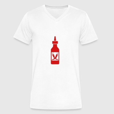 Chili sauce - Men's V-Neck T-Shirt by Canvas