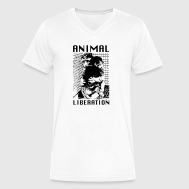 Animal Liberation - Men's V-Neck T-Shirt by Canvas