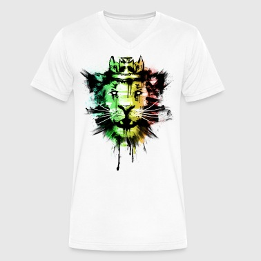 Spirit of the Rasta - Men's V-Neck T-Shirt by Canvas