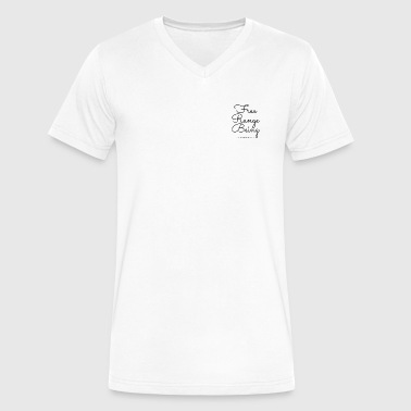 Free Range Being - Men's V-Neck T-Shirt by Canvas