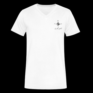Lost V Neck - Men's V-Neck T-Shirt by Canvas