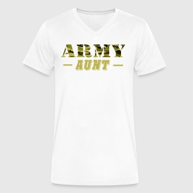 Army Aunt - Proud Army Aunt T-Shirt - Men's V-Neck T-Shirt by Canvas