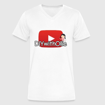 DIY with Ollie YT Logo - Men's V-Neck T-Shirt by Canvas