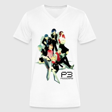 Persona 3 - Men's V-Neck T-Shirt by Canvas