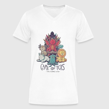 game toys shirt - Men's V-Neck T-Shirt by Canvas
