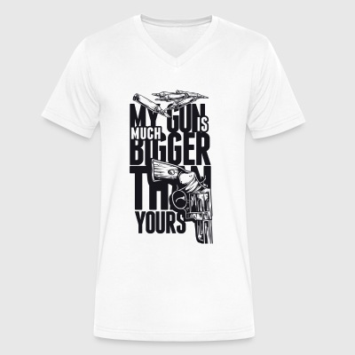 My Gun is much Bigger than Yours - Men's V-Neck T-Shirt by Canvas