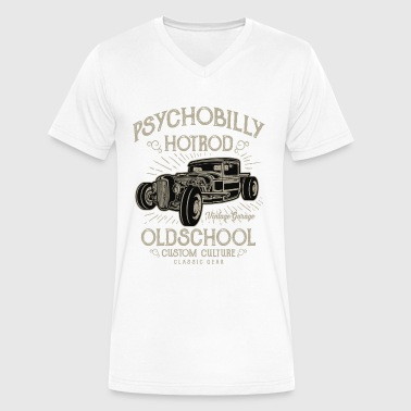 Psychobilly Hotrod Old School - Vintage, Classic Car T shirt - Men's V-Neck T-Shirt by Canvas