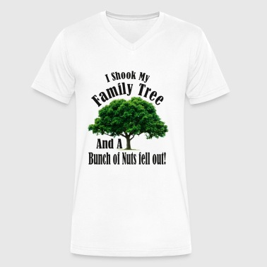 I Shook my Family Tree Nutters - Men's V-Neck T-Shirt by Canvas