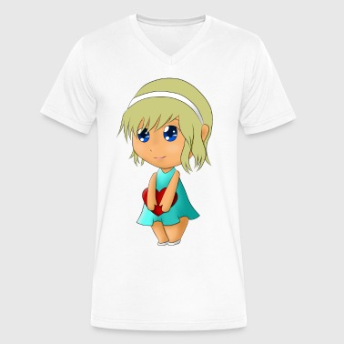 Menina e seu coração/ Girl and your heart - Men's V-Neck T-Shirt by Canvas