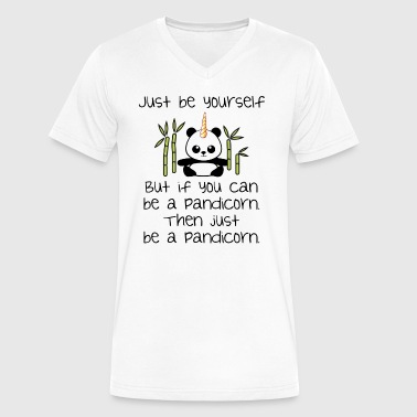 Be Yourself, Be A Pandicorn - Men's V-Neck T-Shirt by Canvas
