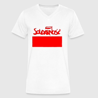 POLAND SOLIDARITY - Men's V-Neck T-Shirt by Canvas