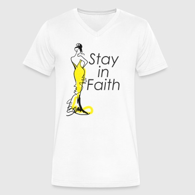 Stay in Faith - Men's V-Neck T-Shirt by Canvas