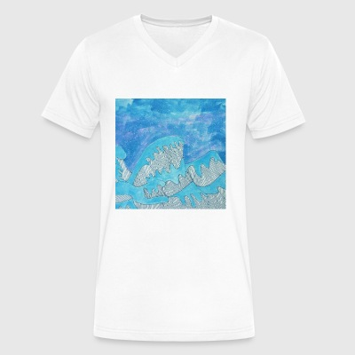Waves - Men's V-Neck T-Shirt by Canvas