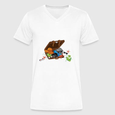 summer suitcase - Men's V-Neck T-Shirt by Canvas