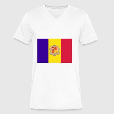 Andorra country flag love my land patriot - Men's V-Neck T-Shirt by Canvas