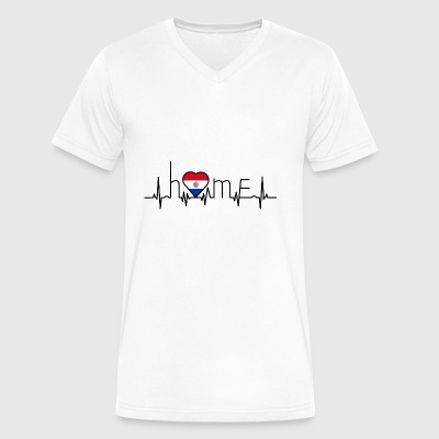 i love home Paraguay - Men's V-Neck T-Shirt by Canvas