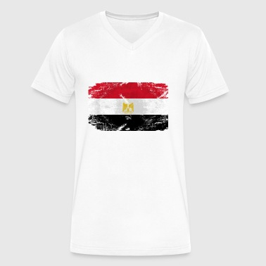Egypt Flag - Men's V-Neck T-Shirt by Canvas