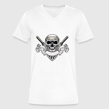 skull - Men's V-Neck T-Shirt by Canvas