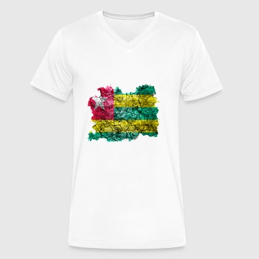Togo Vintage Flag - Men's V-Neck T-Shirt by Canvas