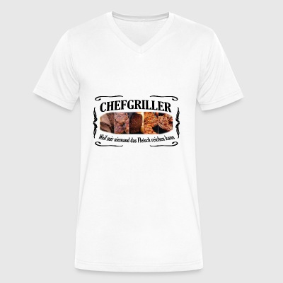 CHEFGRILLER schwarz - Men's V-Neck T-Shirt by Canvas