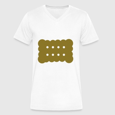 biscuit - Men's V-Neck T-Shirt by Canvas