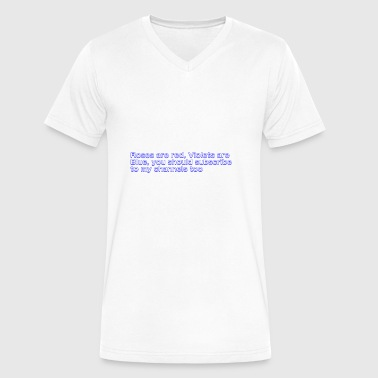 Poem Text - Men's V-Neck T-Shirt by Canvas