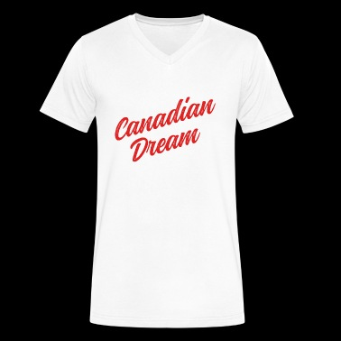 Canadian Dream Stacked - Men's V-Neck T-Shirt by Canvas