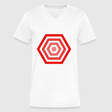 hexagon - Men's V-Neck T-Shirt by Canvas