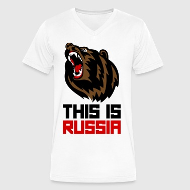 This is Russia - Men's V-Neck T-Shirt by Canvas