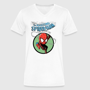 The Amazing Spider Man - Men's V-Neck T-Shirt by Canvas