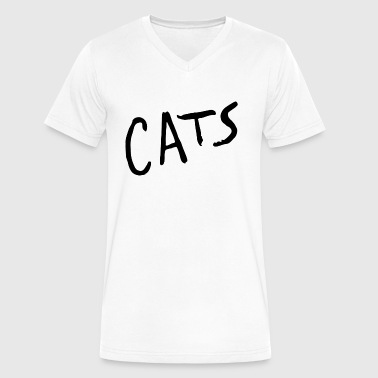 CATS TEXT - Men's V-Neck T-Shirt by Canvas