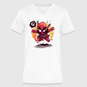 deadpool chubby - Men's V-Neck T-Shirt by Canvas