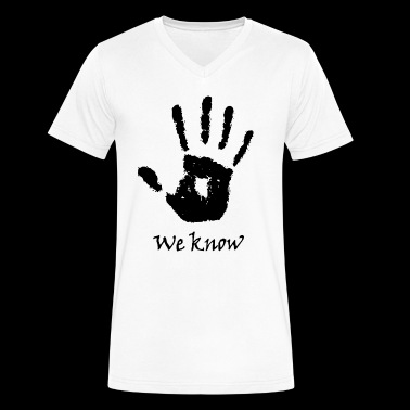 We Know - Men's V-Neck T-Shirt by Canvas