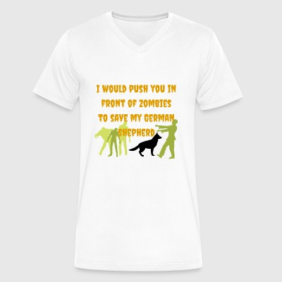 Halloween German Shepherd - Men's V-Neck T-Shirt by Canvas