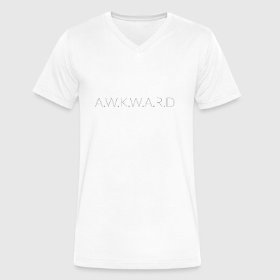 AWKWARD - Men's V-Neck T-Shirt by Canvas