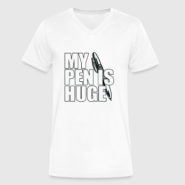 My Pen Is Huge - Men's V-Neck T-Shirt by Canvas
