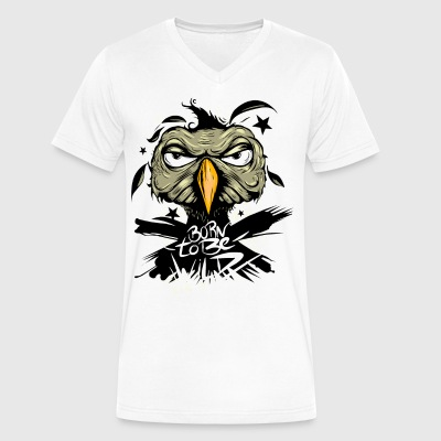born to be wild Hawk - Men's V-Neck T-Shirt by Canvas