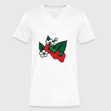 strawberry - Men's V-Neck T-Shirt by Canvas