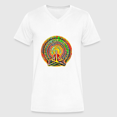 Aura meditation - Men's V-Neck T-Shirt by Canvas