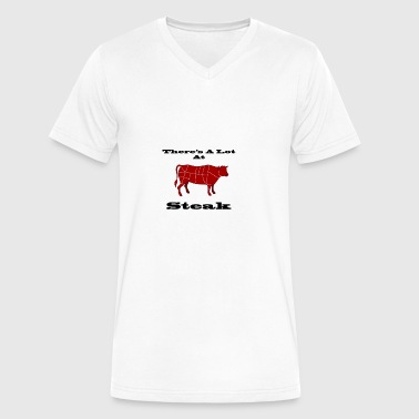 A lot at Steak! - Men's V-Neck T-Shirt by Canvas