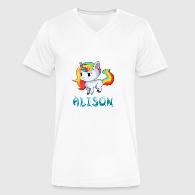 Alison Unicorn - Men's V-Neck T-Shirt by Canvas
