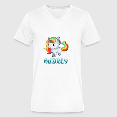 Audrey Unicorn - Men's V-Neck T-Shirt by Canvas
