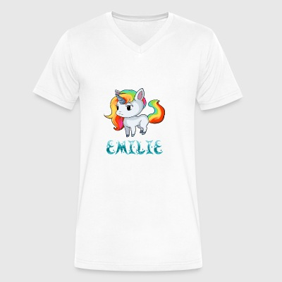 Emilie Unicorn - Men's V-Neck T-Shirt by Canvas