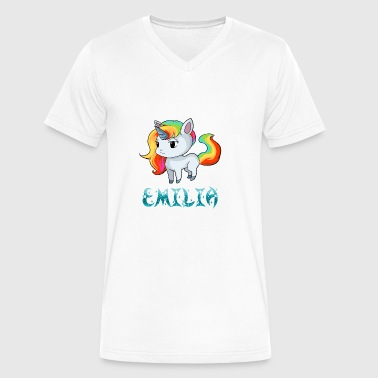 Emilia Unicorn - Men's V-Neck T-Shirt by Canvas
