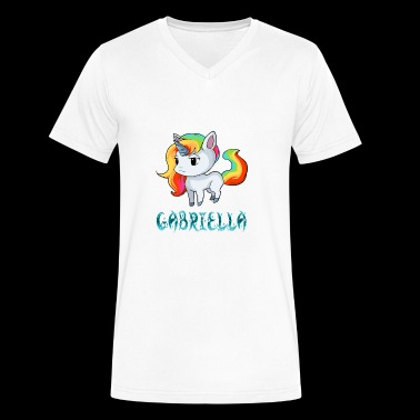 Gabriella Unicorn - Men's V-Neck T-Shirt by Canvas