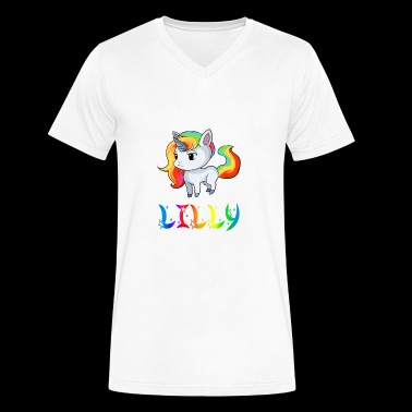 Lilly Unicorn - Men's V-Neck T-Shirt by Canvas